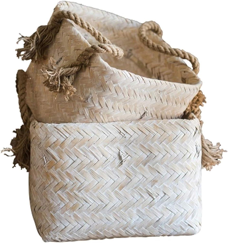 Felices compras QYLOZ Decoración de bambú Hecha a Mano de la Cesta Cesta Cesta de Almacenamiento de la Cesta de Almacenamiento de bambú Hecho a Mano, tamao Opcional (Talla   29  24.5cm)  70% de descuento