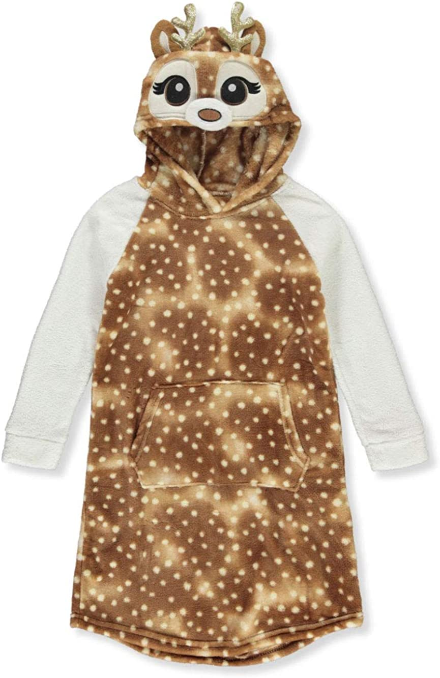 2 Be Real Girls Deer Plush Hooded Nightgown