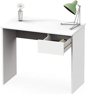 comprar comparacion Abitti Escritorio Mesa de Ordenador Multimedia Color Blanco con cajón para Oficina, despacho o Estudio. 90cm Ancho x 75cm ...