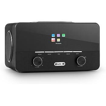 auna Connect 150 Black, 2.1 Internet Radio, Wi-Fi Music Player, MP3 USB Port, AUX, Remote Control, Black