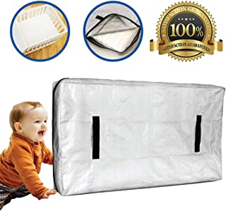 Caloona Inc Mattress Bags for Moving and Storage-Reusable Mattress Cover for Moving with Reinforced Handles and Heavy Duty...