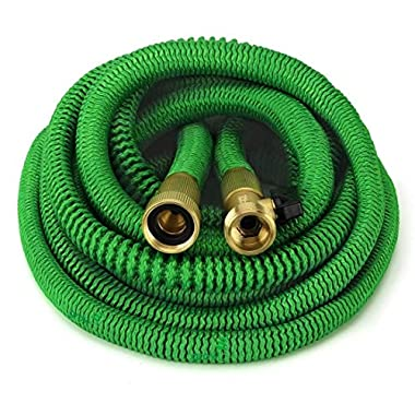 GrowGreen ALL NEW 2018 Garden Hose 50 Feet {IMPROVED} Expandable Hose With All Brass Connectors, 8 Pattern Spray And High Pressure, Expanding Garden Hose