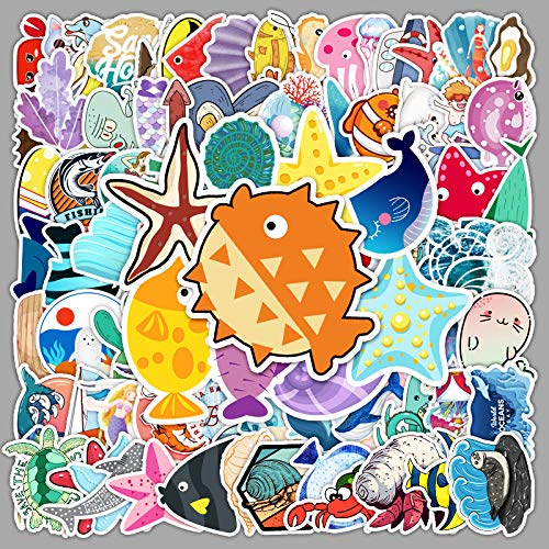 HUNSHA 100 lindos animales pegatinas océano portátil equipaje teléfono móvil coche guitarra decoración pegatinas