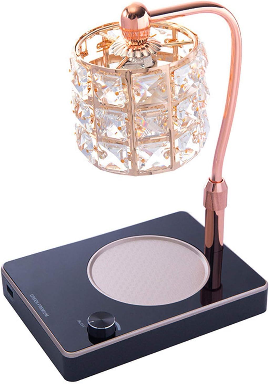 QLIGHA Max 58% OFF Crystal Candle High quality Warmer Lifting Lamp Wax Adjustable
