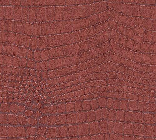 A.S. Création behang Soraya vliesbehang 10,05 m x 0,53 m groen 305831 Natuur Breite 0,53 m - Rollenlänge 10,05 m rood