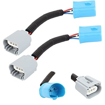HUIQIAODS 9004 9007 to H3 Ceramic Wiring Harness Adapters for Headlight Conversion Retrofit 2Pcs
