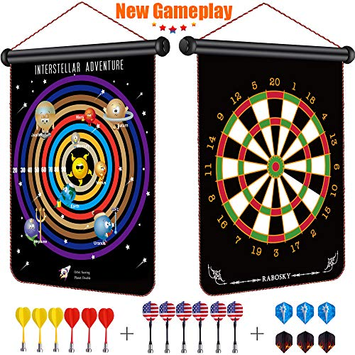 Rabosky Magnetic Dart Board for Kids, Dart Game Toy for 6 7 8 9 10...