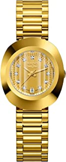 Rado Diaster Women's Gold Dial Metal Band Watch - R12306303