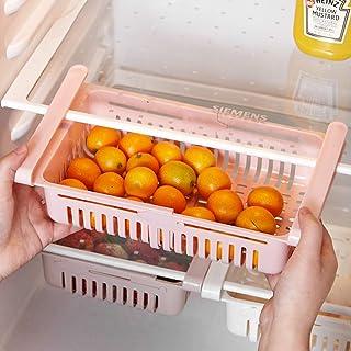 99AMZ Boite Rangement Frigo Réfrigérateur Escamotable avec Tiroir Organisateur Boîte de Rangement Multifonction pour Réfri...