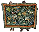 Leap Frog - Helen Vladykina - Cotton Woven Blanket Throw - Made in The USA (72x54)