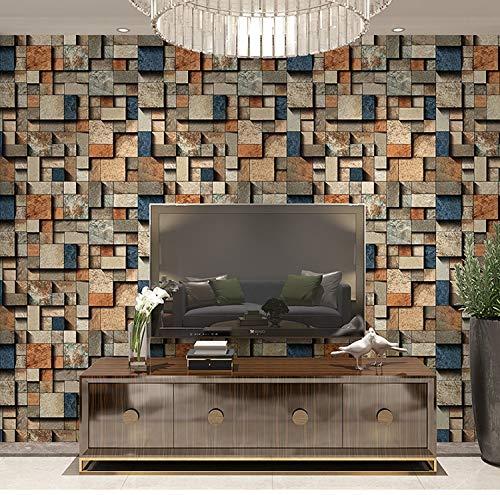 Yaohm behang grijs beton muur baksteen industriële wind koffie vinyl 3D behang baksteen landhuis decoratie huis waterdicht