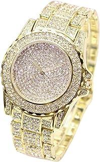 Fxbar,Luxury Women Diamond Fashion Bracelet Watches Best Valentine's Day Gifts Dress Watch (Gold)