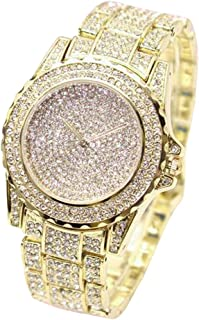 Hessimy Womens Fashion Watches New Ladies Business Bracelet Classic Luxury Rhinestone Watch Casual Exquisite Stainless Steel Teen Girls Gift Retro Analog Quartz Wrist Watches for Women On Sale