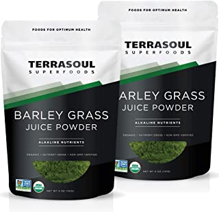 Terrasoul Superfoods Organic Barley Grass Juice Powder, 10 Oz - USA Grown | Made From Concentrated Juice | Superior to Bar...