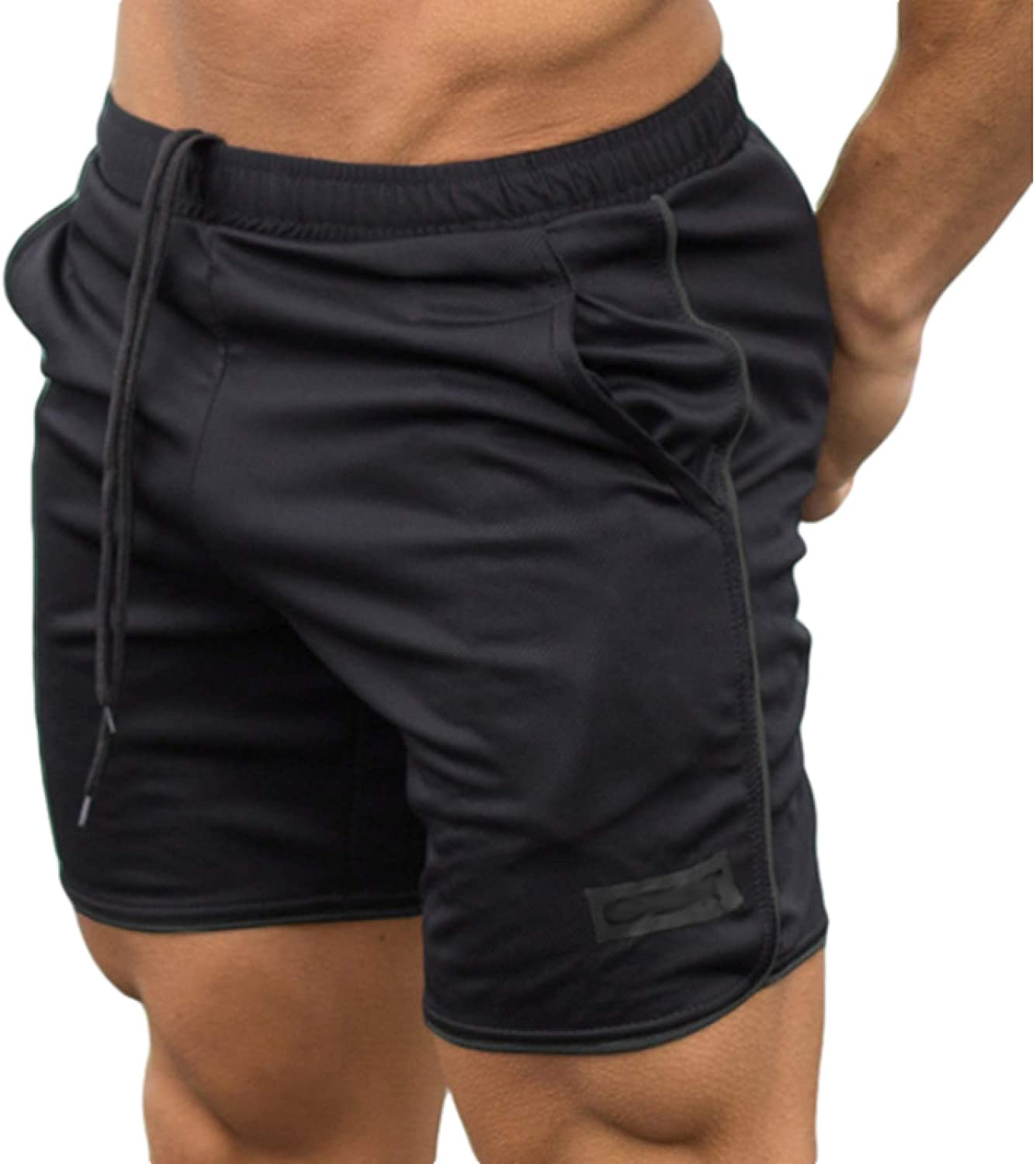 Segindy Men's Loose Fitness Shorts Summer Breathable Casual Elasticated Waist Running