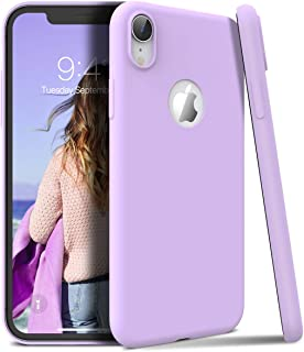 Winhoo Back Cover Case for iPhone XR Silicon Soft TPU Slim Matte Flexible Shockproof Gel Rubber Ultra Thin Candy Back Cover Case - Purple