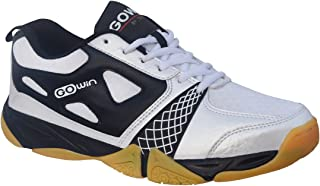 Gowin by Triumph Staunch Microfiber White/Black Badminton Shoes