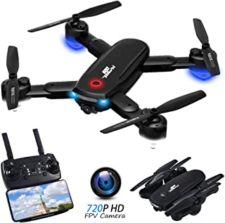 RCtown R10 Foldable FPV Drone with Camera 720P for Adults, WiFi FPV Live Video RC Quadcopter with...