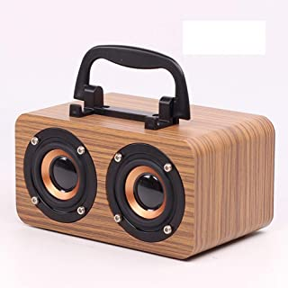 Retro Wooden Bluetooth Speaker Mobile Wireless Computer Speaker Mini Audio,Beige