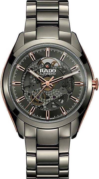 Orologio rado men`s hyperchrome 42mm grey ceramic band & case anti reflective sapphire automatic watch r320211 R32021102