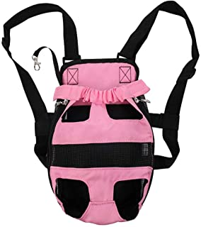 uxcell Pet Dog Carrier Adjustable Front Chest Backpack Pet Cat Puppy Tote Holder Bag Strap for Travel Outdoor Small/Mediu...