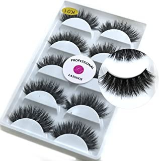 Mink Eyelashes Mink Lashes Natural LASGOOS 3D Luxurious Cross Thick Long Drama Reusable Black Eye Lashes Wholesale Extensi...