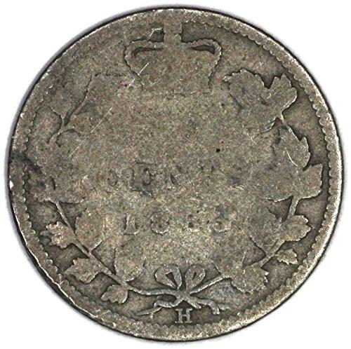 1883 CA H Victoria Canadian Silver Dime KM# 3 10 Cent FAIR
