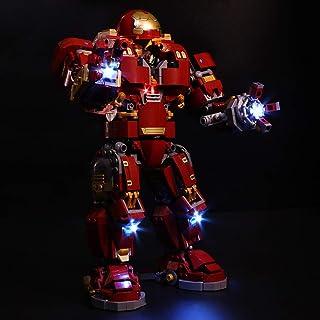 Searchyou Luz LED Light Set Compatible con Lego 76105 - Super Heroes-Hulkbuster: edición Ultrón, Figura de acción de Juguete basado en Las películas de Avengers (No Incluye el Modelo de Lego)