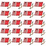 DAOKI 20 Set TTP223 Capacitive Touch Switch Button Self-Lock Module for Arduino with 30 Pin Header Black, Yellow, Red Dupont line