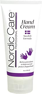Nordic Care Hand Cream, 6 oz.   Shea Butter Hand Lotion for Dry Hands and Cracked Skin   Paraben & Lanolin-free   Essentia...