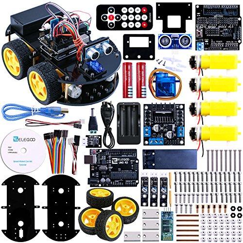 Elegoo Progetto di Una Piccola Robot Auto Car V1.0 con Tutorial in Italiano Modulo Segui Linea, Sensore a Ultrasuoni, Modulo Bluetooth ECC.
