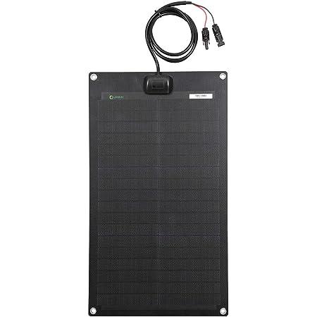 Lensun Flexible Solar Panel,30 Watt 12 Volt ETFE Black PERC Monocrystalline Flexible, Ultra Thin,Ultra Lightweight Waterproof for RV, Boat,Roof,Van,Car,Camping
