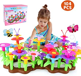 LBLA Flower Garden Building Toys for Girls Toddlers Kids Gardening Set Pretend Toys for 3, 4, 5, 6 Year Old Birthday Gifts...