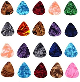 Sungpunet 20-pack 0.46mm Stylish Colorful Celluloid Guitar Picks Plectrums for Guitar Bass