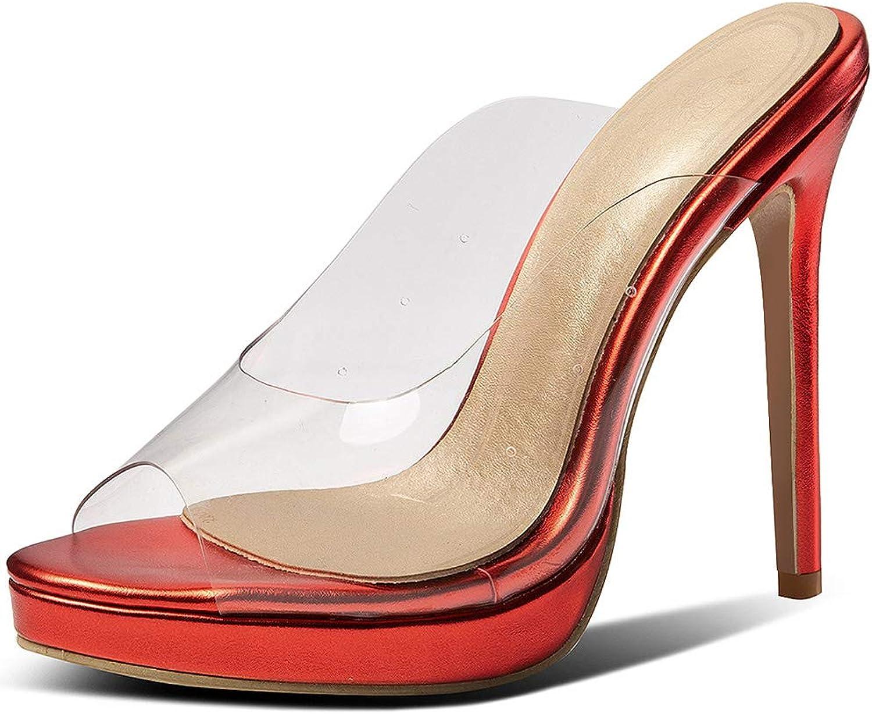 DoraTasia Women's Summer Transparent Sandals Slingback Wedge Heel shoes