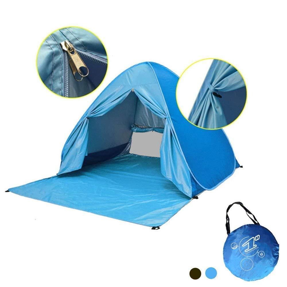 MONOJOY Tiendas Refugio Playa Carpa Plegable Playa Refugio Pesca de Carpa jardín pesca portátil tienda de campaña para niños bebé Niños (Azul con puerta): Amazon.es: Deportes y aire libre