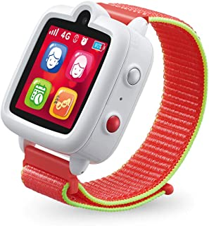 TickTalk 3 Unlocked 4G Universal Kids Smart Watch Phone with GPS Tracker, Combines Video, Voice and Wi-Fi Calling, Messaging, Camera, IP67 Waterproof&SOS (Red Pocket SIM on at&T's Network White)