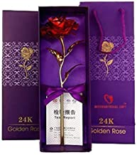 Skyzal Gift Red Rose 25 cm Gift Box and Carry Bag (25 cm, Red) Valentine Gift Couple Love Gift Gift Gift for Girlfriend (Color May Vary)