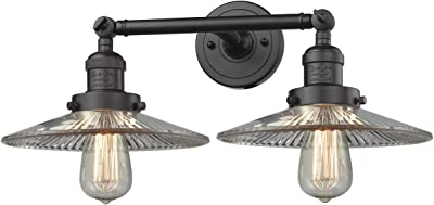 Innovations 208-OB-G2-LED 2 Light Vintage Dimmable LED Bathroom Fixture, Oil Rubbed Bronze