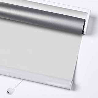 Acholo Blackout Spring Roller Blinds for Window, Privacy Window Shade - Thermal, Room Darkening, White 39