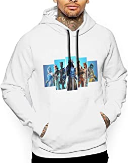Printing Framed Fortnite Season 7 Gaming Long Sleeve Pullover Hoodies with Pocket for Students