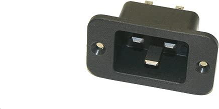 IEC 60320 C19 Socket Type 125VAC//250VAC Rating Black Interpower 83011380 IEC 60320 C19 Rewireable Connector 16A//21A Rating
