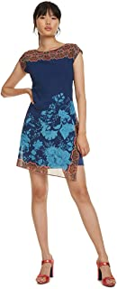 comprar comparacion Desigual Dress Short Sleeve Reset Woman Blue Vestido para Mujer