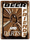 DART BOARD METAL beer sign funny vintage style bar pub mancave game room wall decor 203