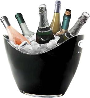 Vinbouquet Vin Bouquet FIE 007 Seau Refroidisseur 6 Bouteilles, Plastic, Noir, 35 x 26 x 26,5 cm
