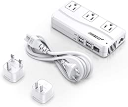BESTEK Universal Travel Adapter 220V to 110V Voltage Converter with 6A 4-Port USB Charging and...