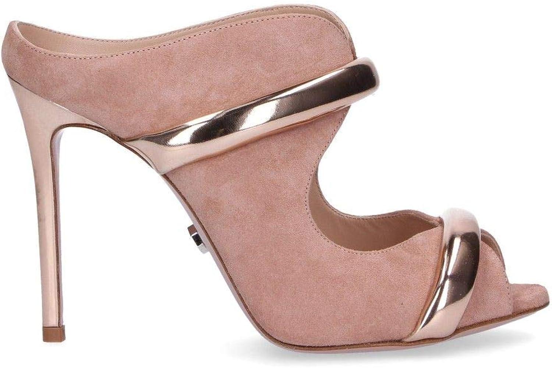 SERGIO LEVANTESI Women's JOYRPINK Pink Suede Sandals
