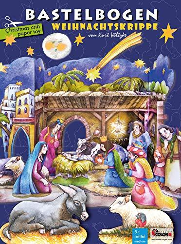ATELIER COLOR Weihnachtskrippe Bastelbogen Basteln im Advent mit der ganzen Familie