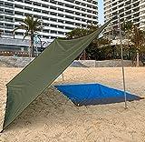 5 × 5 m Sunshade Sail 95% Sunshade Sail impermeable Sunscreen toldo al aire libre jardín patio partido anti-ultravioleta toldo