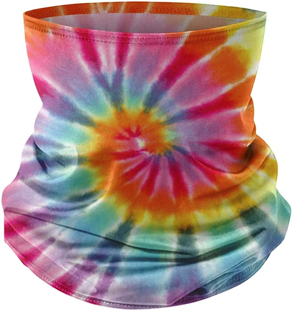 Fifth Sun Tie-Dye Spiral Rainbow QTY of 1 Neck Gaiter - Multi-Color -